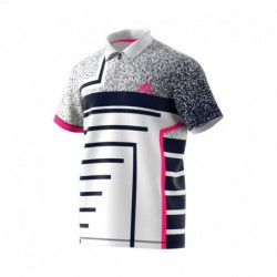 Polo seasonal color white/shock pinkf18
