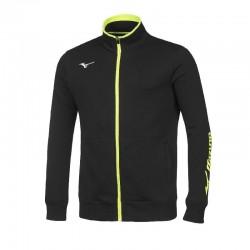 Team sweat fz jacket black/white