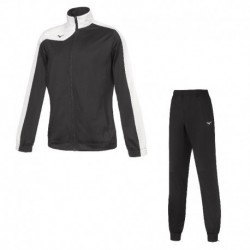 Chandal mujer team knitted tracksuit wos black/white