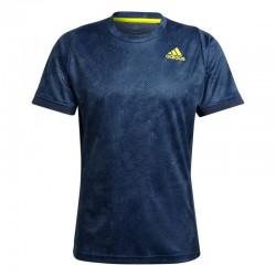 Camiseta flft pb hr crew navy/acid yellow/crew blue