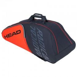 Raquetero head  radical 9r supercombi orange-grey